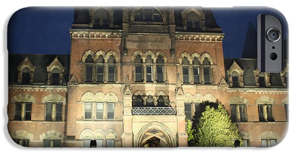 Haunted Schools iPhone Cases - Haunted Mansion iPhone Case by John Telfer