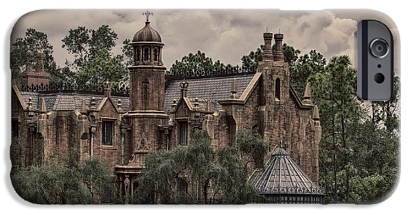 Recently Sold -  - Haunted House iPhone Cases - Haunted Mansion iPhone Case by Nicholas Evans