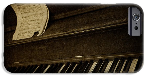 Piano Photographs iPhone Cases - Haunted Melody iPhone Case by Amy Weiss