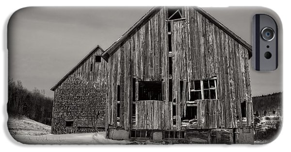 Old Barn iPhone Cases - Haunted Old Barn iPhone Case by Edward Fielding