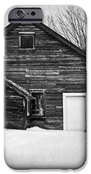 Snow iPhone Cases - Haunted Old House iPhone Case by Edward Fielding