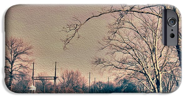 Canal Street Line iPhone Cases - Haunted Trees  iPhone Case by Tom Gari Gallery-Three-Photography
