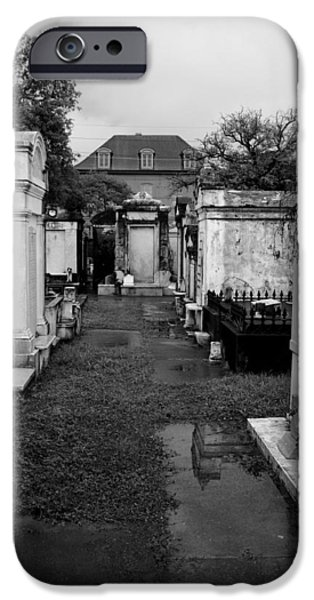 Cemetary iPhone Cases - Haunting iPhone Case by Buddy Green