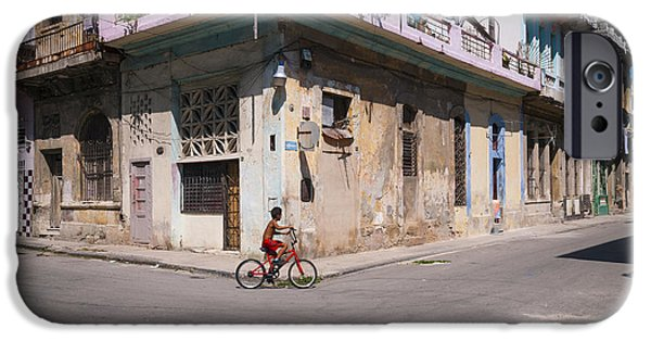 Caribbean Corner iPhone Cases - Havana Bicycle iPhone Case by Steven Chadwick