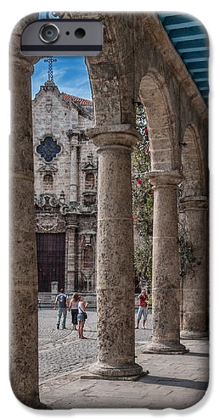 Havana Cathedral and porches. Cuba iPhone Case by Juan Carlos Ferro Duque