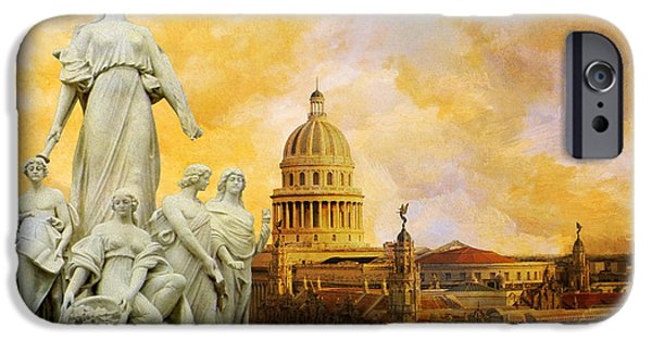 The South iPhone Cases - Havana National Capitol Building iPhone Case by Catf