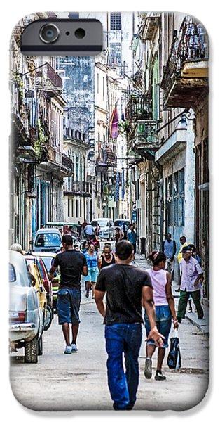 Havana Street II iPhone Case by Jim Nelson
