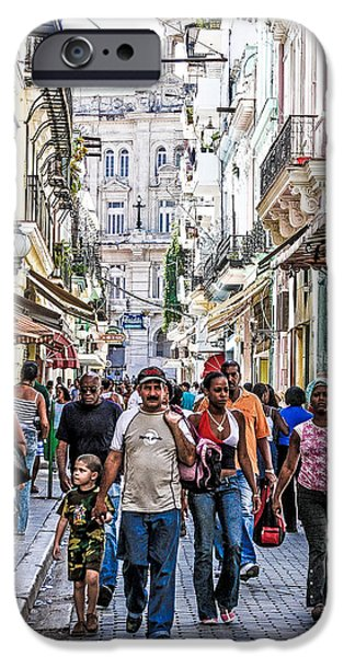 Havana Street V iPhone Case by Jim Nelson