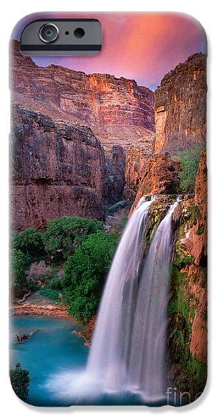 Arizona iPhone Cases - Havasu Falls iPhone Case by Inge Johnsson