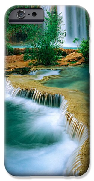 Grand Canyon iPhone Cases - Havasu Travertine iPhone Case by Inge Johnsson