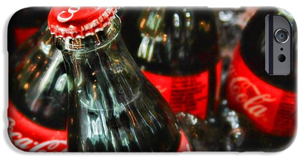 Wine Service Photographs iPhone Cases - Have a Coke and Give a Smile by Diana Sainz iPhone Case by Diana Sainz