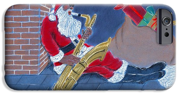 African-american Pastels iPhone Cases - Have a Cool Yule iPhone Case by Charlie Black