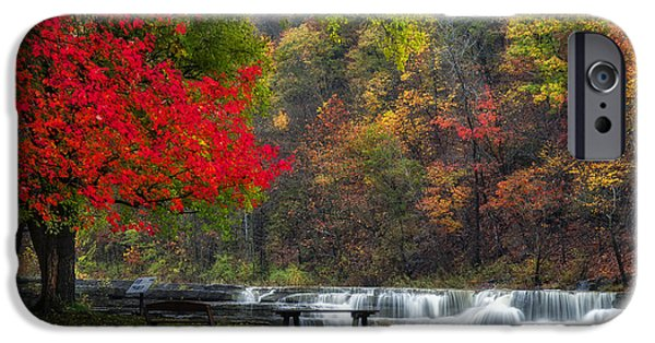 Taughannock Falls State Park iPhone Cases - Have a seat iPhone Case by Mark Papke
