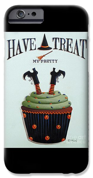 Witches iPhone Cases - Have A Treat My Pretty iPhone Case by Catherine Holman