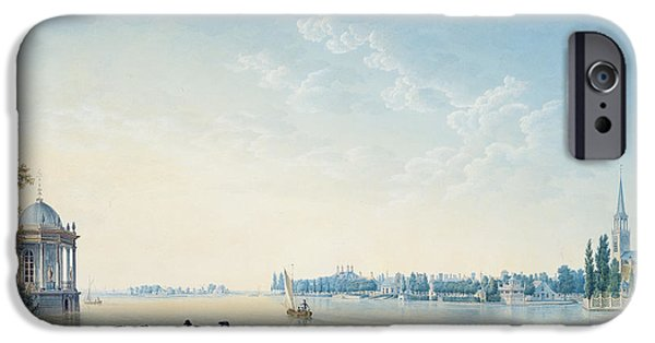 Outdoors iPhone Cases - Havenrak To Broek In Waterland, Or The City Of Zwolle On The Banks Of The Ijssel In Holland, 1814 iPhone Case by Anton Ignaz Melling