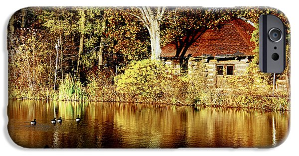 Haverford iPhone Cases - Haverford College Lake iPhone Case by Judy Gallagher