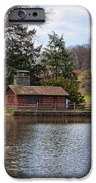 Haverford Skating Cabin iPhone Case by Kay Pickens