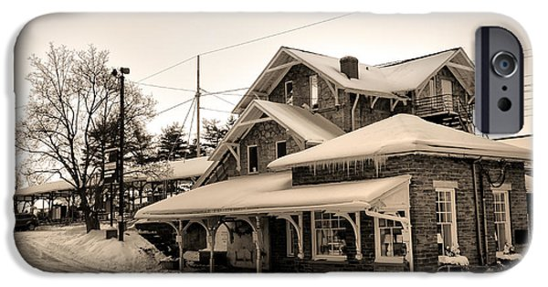 Haverford iPhone Cases - Haverford Station iPhone Case by Bill Cannon