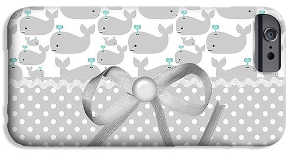 Whale Digital iPhone Cases - Having A Whale Of A Time iPhone Case by Debra  Miller