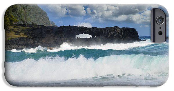 Turbulent Skies iPhone Cases - Hawaii Coastline iPhone Case by Bonnie Fink