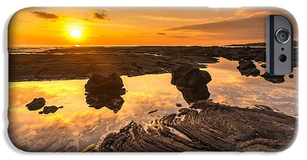 Big Island iPhone Cases - Hawaii Lava Tidepools Serenity iPhone Case by Mike Reid