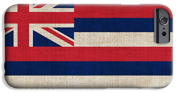 Declaration Of Independence Digital iPhone Cases - Hawaii State Flag  iPhone Case by Pixel Chimp