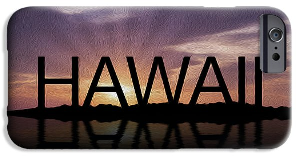 Big Island iPhone Cases - Hawaii Tropical Sunset iPhone Case by Aged Pixel