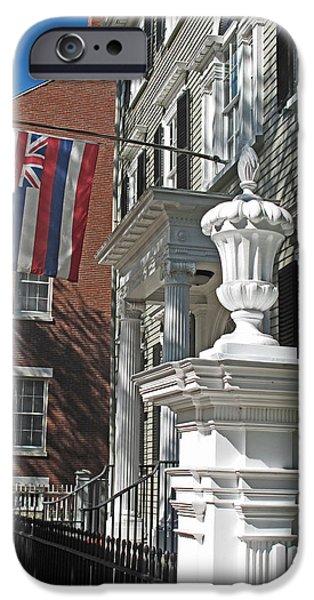 Federalist Style iPhone Cases - Hawaiian Flag in Salem iPhone Case by Barbara McDevitt