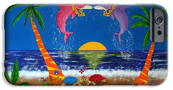Animation iPhone Cases - Hawaiian Island Love iPhone Case by Pamela Allegretto