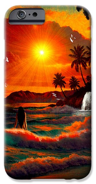 Rucker iPhone Cases - Hawaiian Islands iPhone Case by Michael Rucker