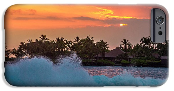 Bill Gallagher iPhone Cases - Hawaiian Sunset iPhone Case by Bill Gallagher