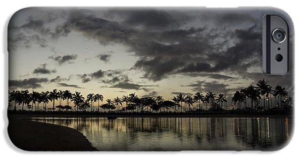 Seductive iPhone Cases - Hawaiian Twilight - Dreaming of Warm Tropical Evenings iPhone Case by Georgia Mizuleva