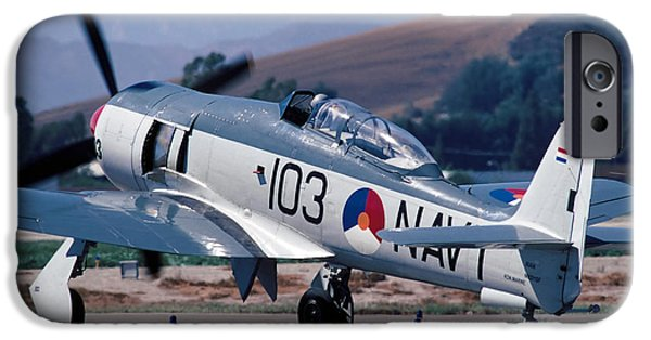Fury iPhone Cases - Hawker Sea Fury NX51SF Taxiing Camarillo August 23 2003 iPhone Case by Brian Lockett