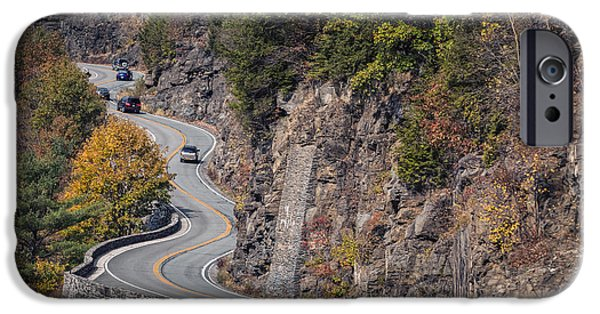 Asphalt iPhone Cases - Hawks Nest in the fall iPhone Case by Eduard Moldoveanu