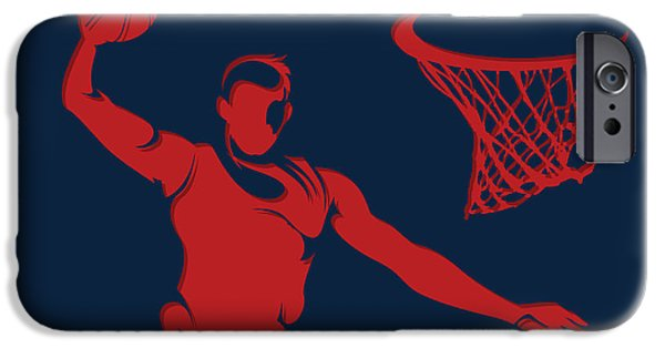 Dunk iPhone Cases - Hawks Shadow Player1 iPhone Case by Joe Hamilton