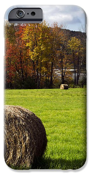 Hay Bales And Fall Colors iPhone Case by Christina Rollo
