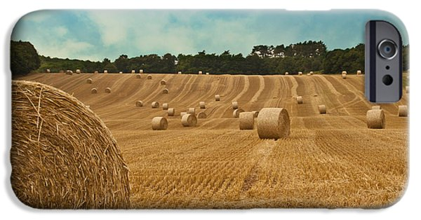 Consumerproduct iPhone Cases - Hay Bales iPhone Case by Nomad Art And  Design