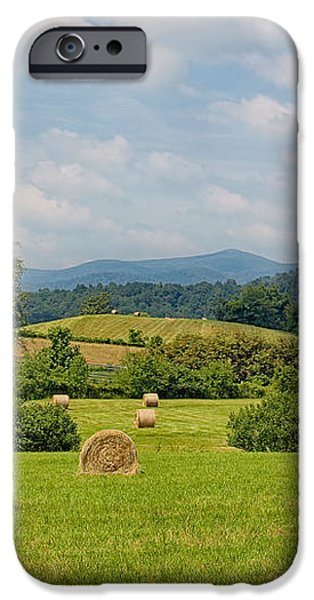 Hay Bales in Farm Field iPhone Case by Kim Hojnacki