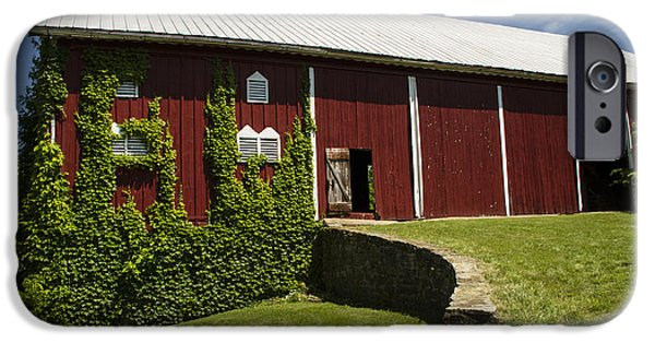 Painter Photo Photographs iPhone Cases - Hay Barn iPhone Case by Guy Shultz
