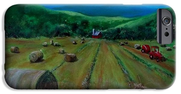 Haybale Mixed Media iPhone Cases - Hay Harvest iPhone Case by Joan Mace