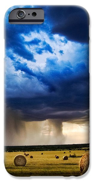 Best Sellers -  - Agriculture iPhone Cases - Hay in the Storm iPhone Case by Eric Benjamin