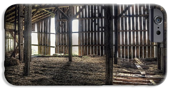 Barns Photographs iPhone Cases - Hay Loft 2 iPhone Case by Scott Norris