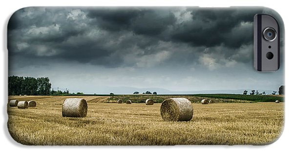 Michelle iPhone Cases - Hay Rolls iPhone Case by Michelle Meenawong