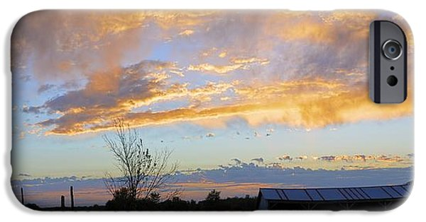 Shed iPhone Cases - Hay Shed Sunset iPhone Case by Bonfire Photography