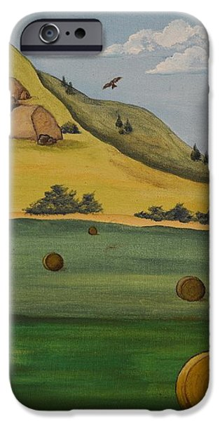 Haybales iPhone Case by Cassandra Barnhart