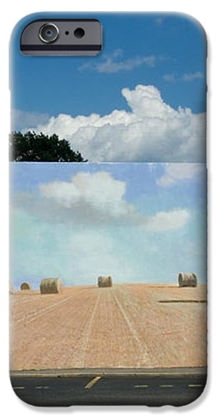 Haybales - The other side of the Tunnel iPhone Case by Blue Sky