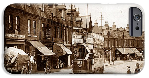 Wimbledon Photographs iPhone Cases - Haydons Road Wimbledon London England iPhone Case by The Keasbury-Gordon Photograph Archive