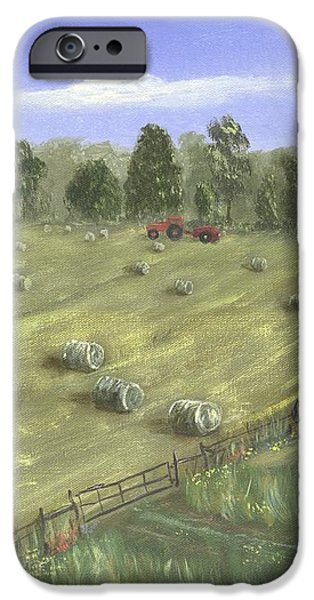 Haying Season iPhone Case by John W Fuller