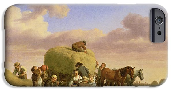 Farming Photographs iPhone Cases - Haymakers Resting In A Field iPhone Case by Adriaen van de Velde
