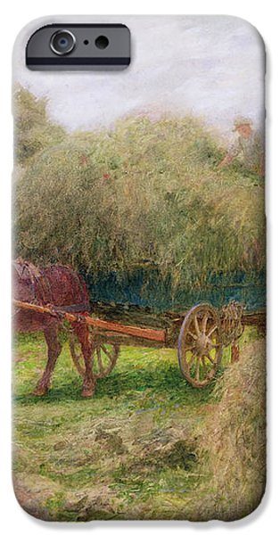 Haymaking iPhone Case by Arthur Hopkins